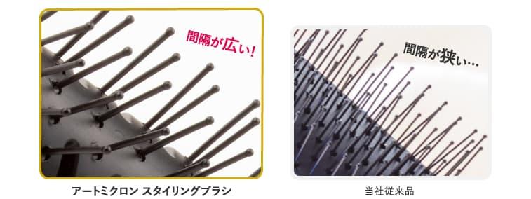 """広めの植毛なので、""""手ぐし感覚""""でスタイリングが可能!"""