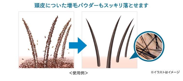 もっちり泡が増毛パウダーや汚れをしっかり落とす!アートミクロンマイスターシャンプー