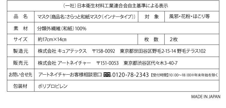 一社)日本衛生材料工業連合会自主基準による表示